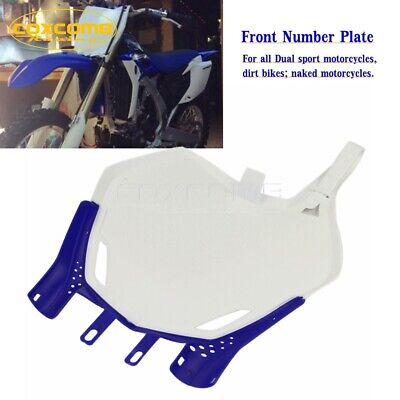 $17.99 • Buy Dirt Bike Front Number Plate Board For Yamaha YZ125 YZ250 YZ250F YZ450F WR250F