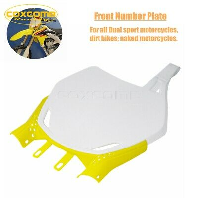 $17.99 • Buy For Suzuki DRZ400S/M DR-Z DR RM-Z RM 125/250/450 ABS Plastic Front Number Plate