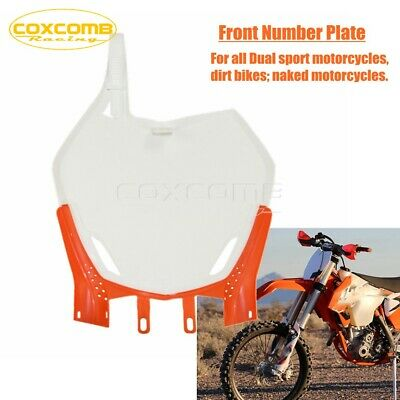 $17.99 • Buy Trail Bike Plastic Front Number Plate For SX SXF XCF 125 250 350 450 Off Road