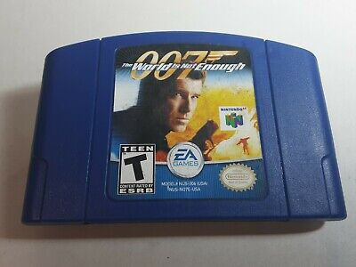 $24.98 • Buy 007 The World Is Not Enough Nintendo 64 N64 Game Authentic Cartridge GOOD LABEL