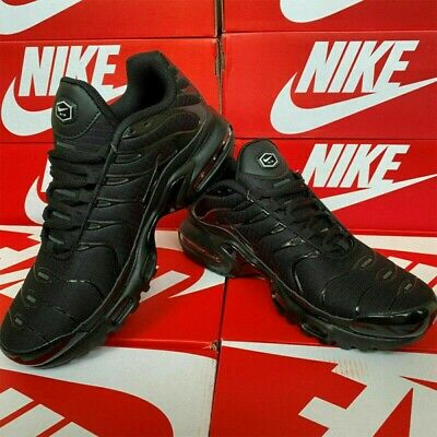 AU118.99 • Buy Nike Air Max Plus Tn Mens Black Trainers Running Shoes Black Multiple Size NEW