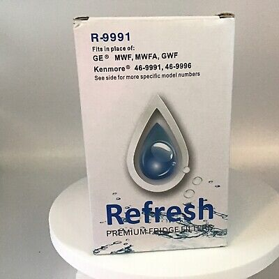 $ CDN10.01 • Buy Refresh R-9991 Compatible With GE MWF, GWF, MWFP, MWFA Refrigerator Water Filter