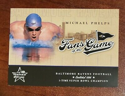 $125 • Buy Michael Phelps 2004 Leaf Rookies & Stars Fans Of The Game Rookie Card - Mint