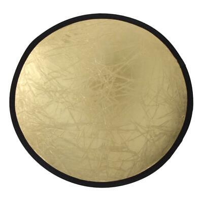 2-in-1 Light Mulit Collapsible Disc Photography Reflector Silver/Gold 80cm • 9.34£