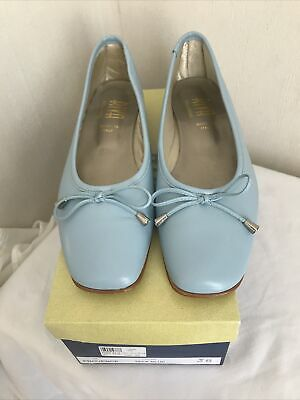 £29.99 • Buy Riva Ballerinas Leather Provence Flat Shoes / Ballet ShoeUK Size 5-38 Pale Blue
