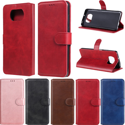 AU10.09 • Buy For Xiaomi Poco X3 NFC Mi 11 10T Note 10 9 Case Leather Flip Wallet Cards Cover