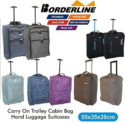 £10.99 • Buy Trolley Cabin Bag Approved EasyJet/Ryanair Carry On Hand Luggage