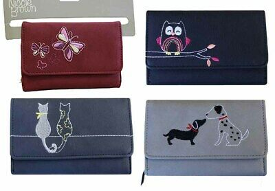£8.99 • Buy Women Ladies Leather Small Animal Print Wallet Zip Card Button Clutch Purse