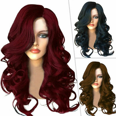 £13.49 • Buy Women Synthetic Real Wavy Wig Lady Long Full Wavy Curly Hair Party Cosplay Wigs