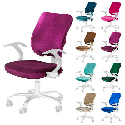AU18.93 • Buy Universal Elastic Office Chair Cover Split Computer Seat Dustproof Solid Stretch