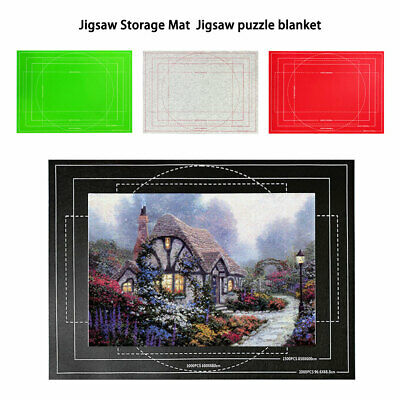 £5.99 • Buy Pro Puzzle Storage Mat Blanket Portable Jigsaw Felt Roll Pad Up To 2000 Pieces