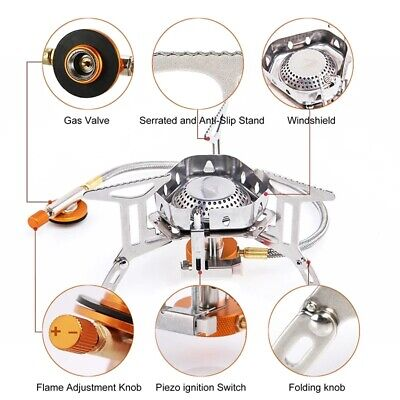 £28.32 • Buy Outdoor Gas Burner Camping Stove Lighter Tourist Equipment Kitchen Cylinder New
