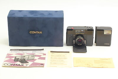 $ CDN1062.32 • Buy [Near MINT BOXED] Contax T Black 35mm Rangefinder Camera T14 Flash From JAPAN