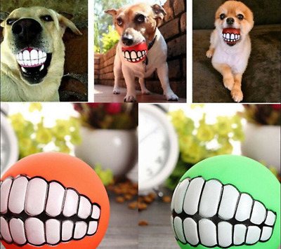 £2.10 • Buy Indestructible Solid Rubber Ball Dog Toy Training Chew Play Fetch High Squeake