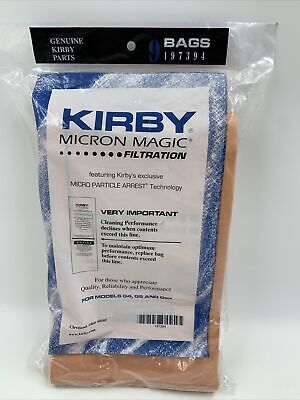 Genuine Kirby Vaccum Micron Magic Filtration Bags 9 Pack, For G4 G5 Gsix • 15.86£
