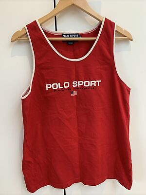 £45 • Buy Ralph Lauren  Vintage Polo Sport 1992 Spellout Rare Vest  XL Made In USA