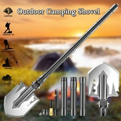 $29.99 • Buy Military Folding Shovel Camping Survival Tactical Multi-Tool For Hiking Hunting