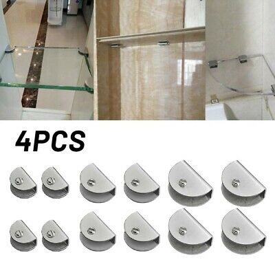AU14.80 • Buy Glass Clamp Clips Steel Glass Clip Shelf Support Brackets Holder Reliable Use~