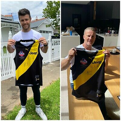 AU595 • Buy  Richmond 2020 Premiers Jumper Signed By Cotchin & Hardwick