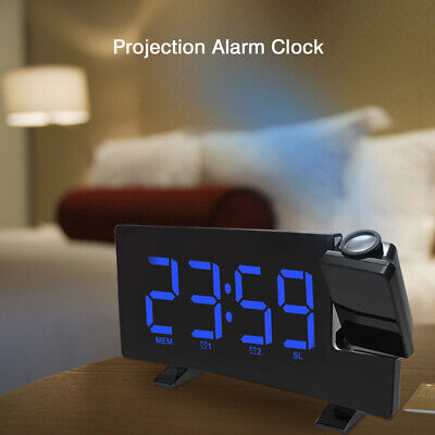 AU46.45 • Buy Digital Projection Alarm Clock LCD FM Radio Temperature Projector Calendar Time