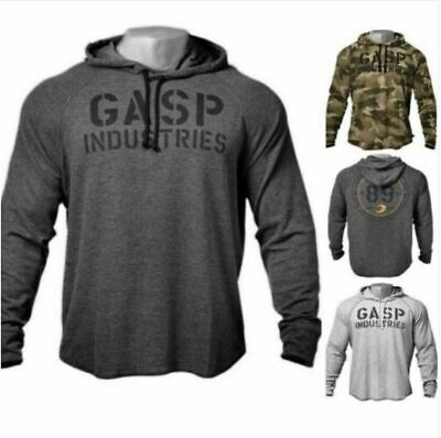 2021GASP Bodybuilding Hoodie Mens Pullover Gym Workout Training Muscle Hooded  • 20.99£