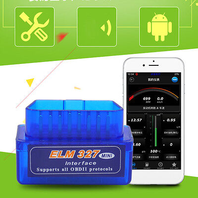 AU12.80 • Buy Small Bluetooth ELM327 ODB2 II Vehicle Cars OBD2 Diagnostic Scanner Reading Code