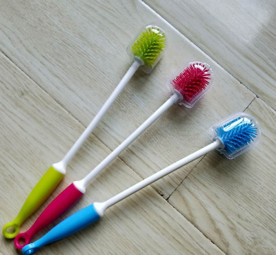 £2.99 • Buy Silicone Long Handle Wash Cup Brush Baby Milk Bottle Brush Glass Cup Cleaner LC
