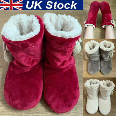 £7.80 • Buy Womens Slippers Ladies Fur Thermal Ankle Boots Warm Shoes Size UK 3 4 5 6 7 8