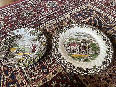 £2.99 • Buy Myott The Hunter Country Life Plates Hand Engraved Vintage