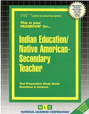 £25.89 • Buy National Learning Corporation-Indian Education -Secondary Teacher BOOK NEW