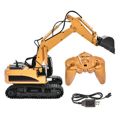 15 Channel Remote Control Excavator RC Toy Tractor Bulldozer Digger 1/14 Scale • 43.87£