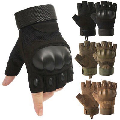 $11.99 • Buy Army Military Hard Knuckle Tactical Half Finger Gloves Men Airsoft Combat Police