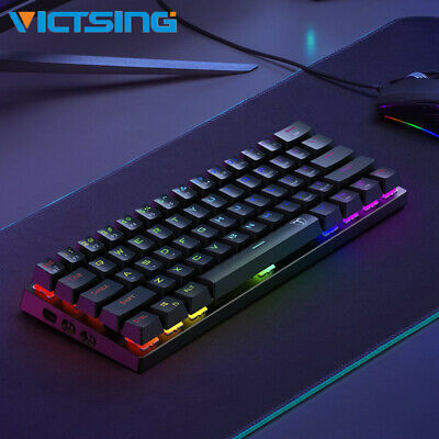 AU58.99 • Buy Victsing USB Bluetooth Wireless Gaming Keyboard RGB Backlight Mechanical Keypad