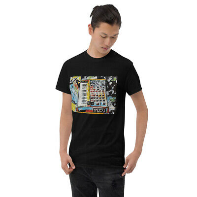 AU29.67 • Buy Moog Voyager Analog Synthesizer Original T-Shirt By Crazy Oil Arts Short Sleeve