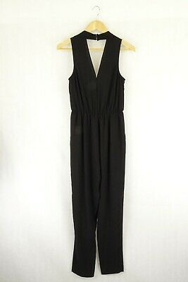 AU27.50 • Buy Forever New Black Jumpsuit 8 By Reluv Clothing