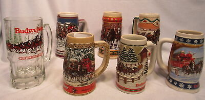 $ CDN82.20 • Buy Lot Of 7 Budweiser Beer Steins Holiday 1995&96 Series C Collector 1989 Hometown