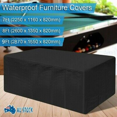 AU30.95 • Buy BLACK PVC Pool Snooker Billiard Table Dust Cover For 8' Ft 9' Ft Pool Table