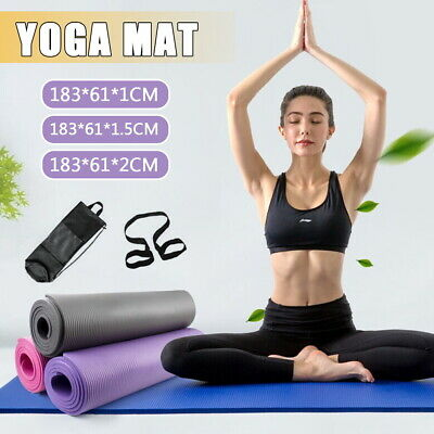 AU18.99 • Buy Thick Yoga Mat Pad 6/10/15/20MM NBR Nonslip Exercise Fitness Pilate Gym Durable