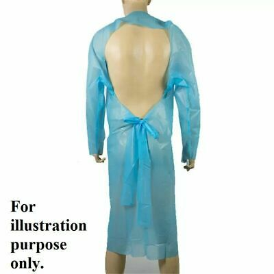 £9.99 • Buy Disposable CPE Isolation Medical Grade Plastic Gowns Medical Use Waterproof