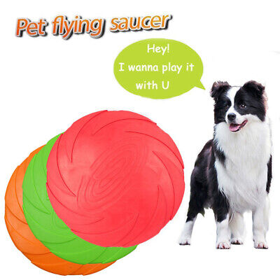 £4.99 • Buy Soft Rubber Summer Beach Frisbee Dog Pet Throwing Flying Disc Frisby Fetch Toy
