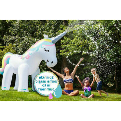 £22.95 • Buy New Large Inflatable Unicorn Sprinkler Water Party 6ft Kids Giant Garden Outdoor
