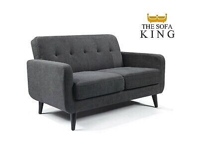 £269 • Buy Grey Fabric Sofa 2 Seater - FREE NEXT DAY DELIVERY - Small Compact Easy Delivery