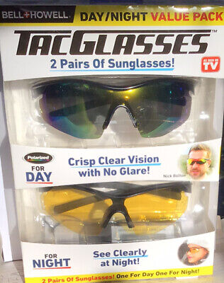 """AU38.29 • Buy BELL + HOWELL TAC GLASSES 2 PAIRS ( DAY & NIGHT) VALUE PACK. Sealed""""BRAND NEW"""""""