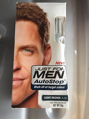 £12.95 • Buy Just For Men AutoStop Ready To Use Mens Hair Colour Auto Stop LIGHT BROWN A25 *