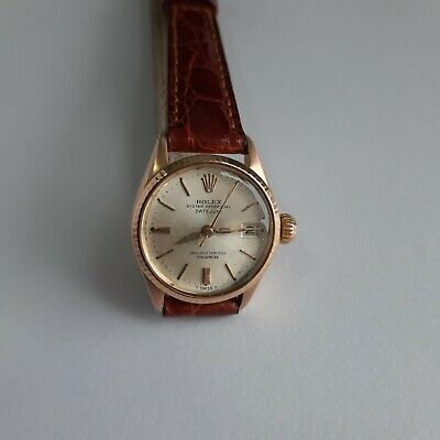 $ CDN3195.36 • Buy Rolex Datejust Automatic 18 K Solid  Rose Gold Watch Ref. 6517 Cal 1161,working