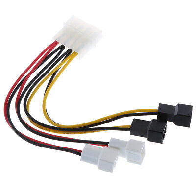 £2.78 • Buy Fan Adapter Cable 4-pin. SATA Connector To 4X3 Pin Connector Computer