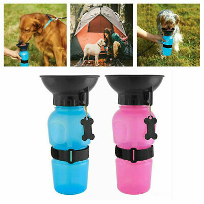 Pet Travel Water Bottle Portable Water Drink Dog Cup With Bowl Dispenser DD • 3.89£