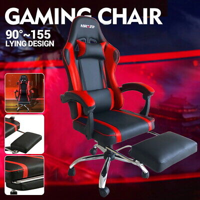 AU103.99 • Buy Gaming Chair Office Executive Computer Chairs Racing Footrest Racer