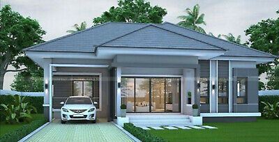 Custom House Home Building Plans 3 BedRoom 2 BathRoom & Garage With CAD File • 7.15£