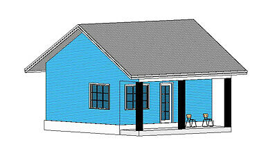 Custom Tiny Granny's House Home Building Plans 1 Bedroom1 Bathroom & CAD File • 7.86£